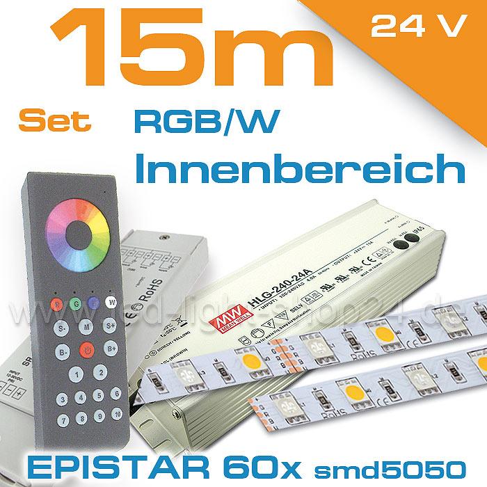 LED Komplettset 15m RGBW LED Strips