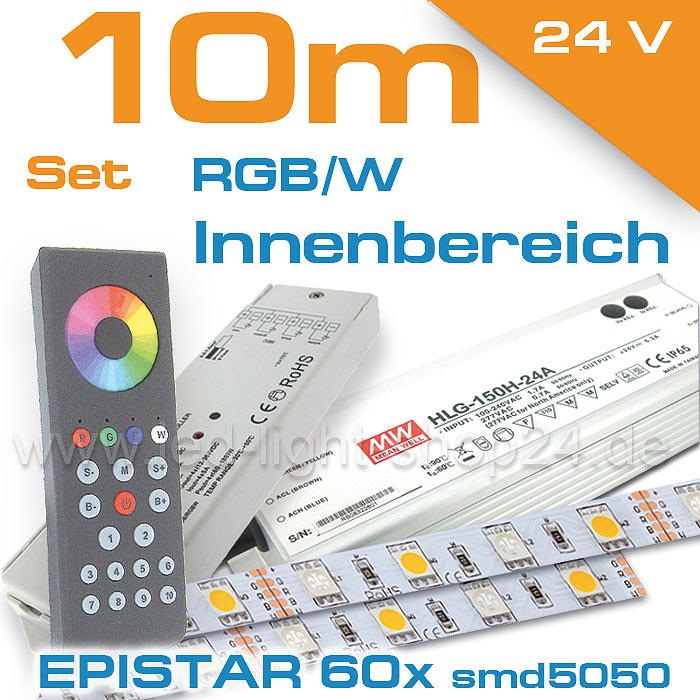 LED Komplettset in RGBW 10 Meter