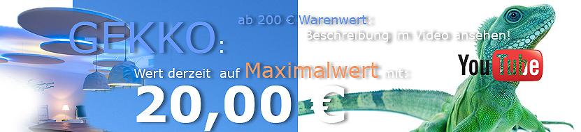 GEKKO-Indirekte Beleuchtung Youtube 20 EURO