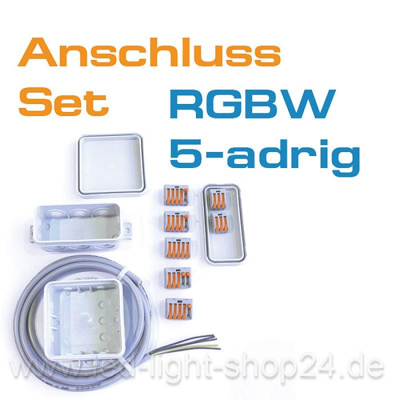 rgbw led anschlussdose rgbw kabel 7 90. Black Bedroom Furniture Sets. Home Design Ideas
