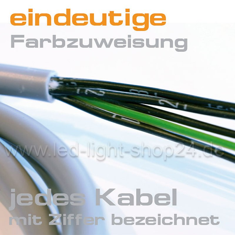 kabel f r rgbw led stripes in meterl nge 1 79. Black Bedroom Furniture Sets. Home Design Ideas