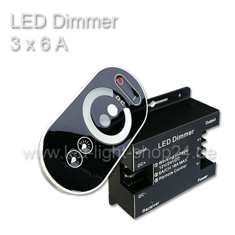 Led dimmer mit fernbedienung 5 kanal led dimmer skonteo for Koch 4 kanal funk dimmer