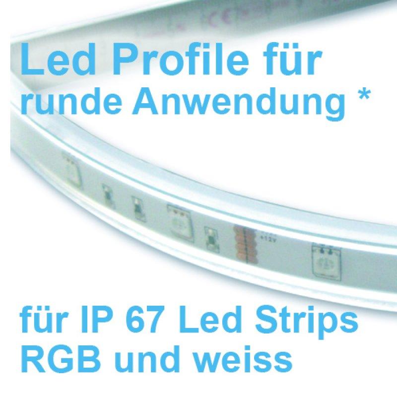 led profile 200cm acryl flexibel und biegbar f r ip67 led b aum. Black Bedroom Furniture Sets. Home Design Ideas