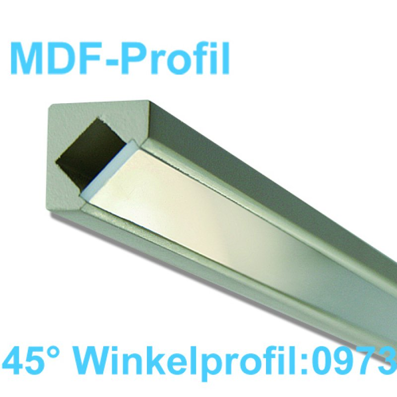 led profile mdf 1m 45 winkel lichtabstrahlung 16 99. Black Bedroom Furniture Sets. Home Design Ideas