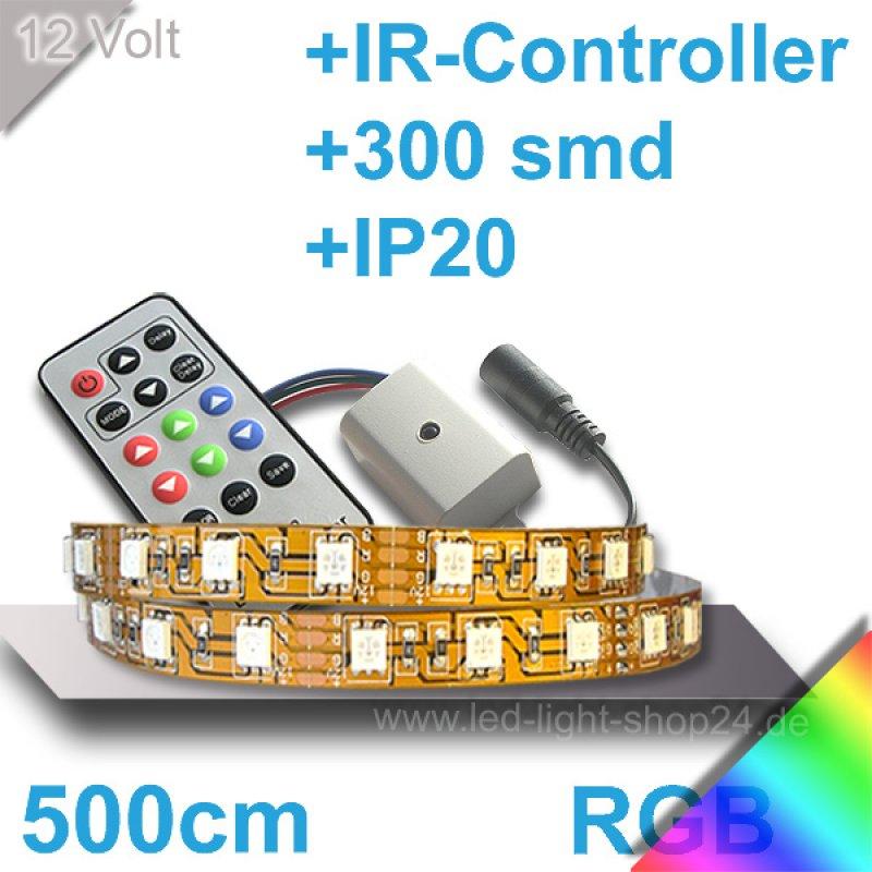 led strip set rgb maximale helligkeit mit ir controller innenbereich. Black Bedroom Furniture Sets. Home Design Ideas