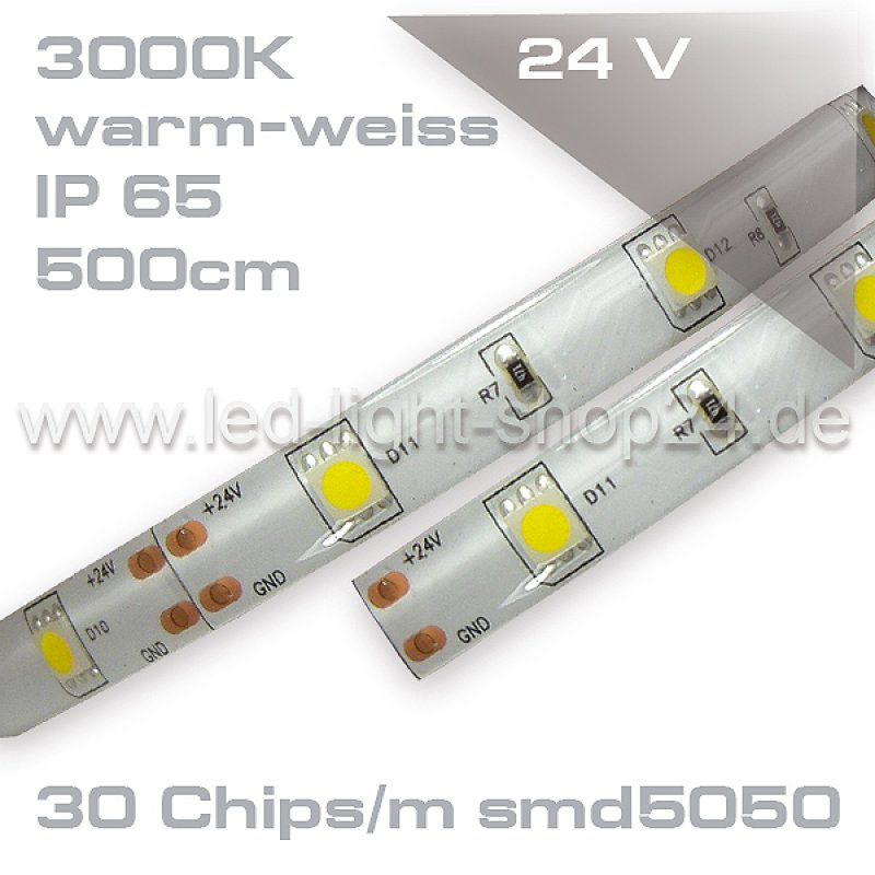 led strip auf rolle warmweiss ip45 smd5050 wassergesch tzt 52 9. Black Bedroom Furniture Sets. Home Design Ideas