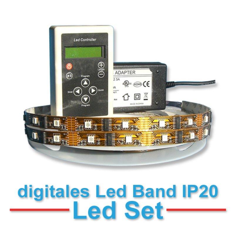 led strip set 1 led band digital magic led strip non waterproof. Black Bedroom Furniture Sets. Home Design Ideas