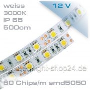Led Band ----warm/weiss 3000K--mit 300Chips---IP45--12Volt