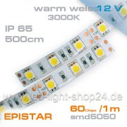 12V EPISTAR Led Streifen smd5050 5m warmweiss 3000K  IP65