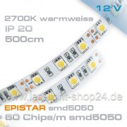 12V EPISTAR smd5050 5m Led Streifen warmweiss 2700K  IP20