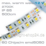 5m   Led Band in warmweiß-----2700K sehr warmes weiss --