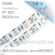 Led Band 5m RGB SMD 5050 +60%      1950Lumen durch 300Chips/5m