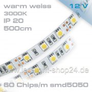 Led Band 5m TOP weiss mit 150 Chips5050
