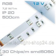 Led Band RGB mit 30Chips/m 5m  SMD 5050 Tri-Chip