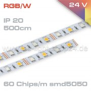 Led Band RGBW  EPISTAR IP20-Innenraum 24Volt   500cm Länge