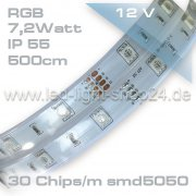 Led Band SMD 5050 IP55 150Led`s Silikonummantelt 500cm