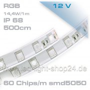 Led Band SMD 5050 IP68 300Led`s wasserfest 500cm