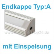 Led Profile Endkappe 1440 Typ: A mit Einspeisung
