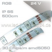 Led Strip RGB 24Volt IP45 150smd Länge: 5m