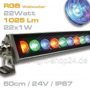 RGB Led Wallwasher 22Watt 45° Cree*