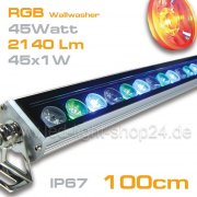 RGB Led Wallwasher 45Watt 60° EDISON