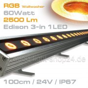 RGB Led Wallwasher 60Watt 50° EDISON
