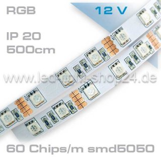 Led Band 5m RGB smd5050 60Chip/m  maximale Helligkeit /Tape MP200