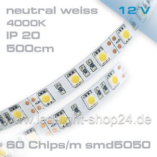 Led Band neutral weiss 4000K IP20 maximale Helligkeit 1980Lm