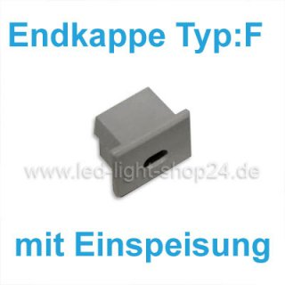 Led Profile Endkappe 00027 Typ: F mit Einspeisung