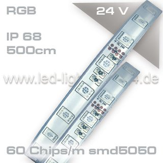 Led Strip wasserdicht 300Chips RGB 24Volt IP67
