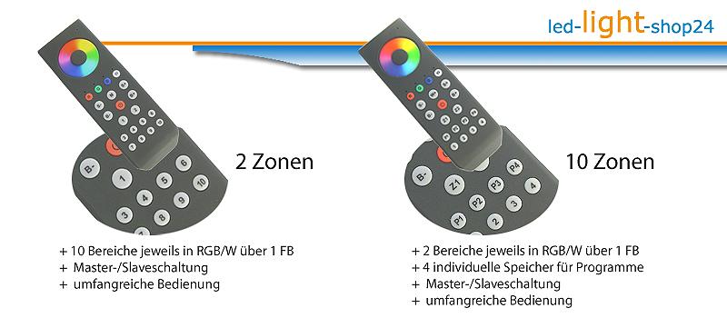 Direkter Vergleich von RGBW Led Controllern