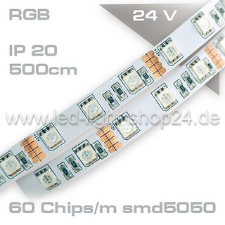 Led Strip RGB 24Volt P20 300smd Länge: 10m