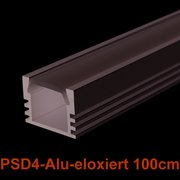 Led Profile PDS4-Alu 1m eloxiert