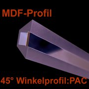 Led Profile PAC MDF 1m 45° Winkel Lichtabstrahlung