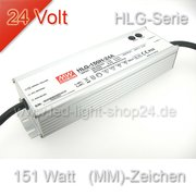 Led Trafo Meanwell HLG 150H-24 wasserfest