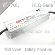 Led Trafo Meanwell HLG 150H-12 wasserfest