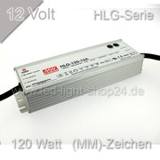 Led Trafo  HLG 120H-12 MEANWELL IP65