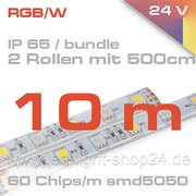 Led Strip/ Band RGBW IP65 2 Rollen à 500cm