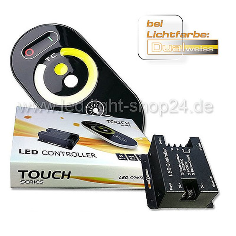 led controller f r zweifarbige led streifen 2700k 6000k 59 90. Black Bedroom Furniture Sets. Home Design Ideas
