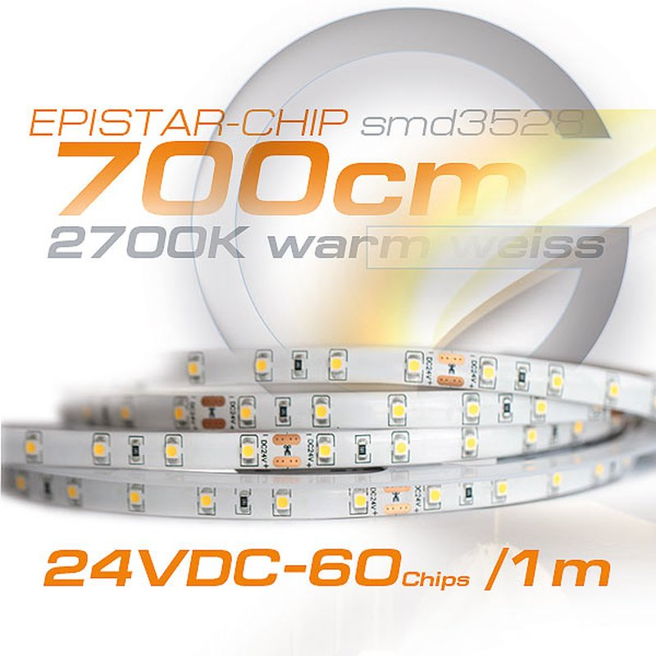 LED Streifen indirekte Beleuchtung 3000K 24Volt
