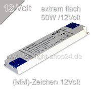 Extrem flacher LED Trafo 12VDC /50Watt