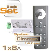 LED Dimmer Set 1x8A +Fernbedienung bis 6 Zonen