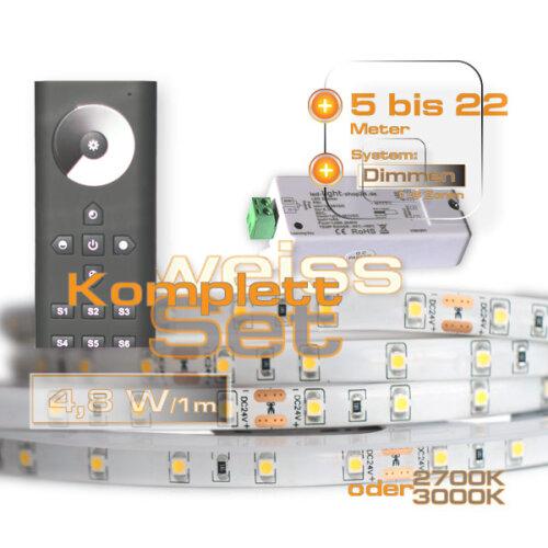 Berühmt LED Streifen Komplettset weiss 5-28Meter, 1,00 € TG77