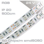Led Strip RGB 24Volt P20 300smd Länge: 5m