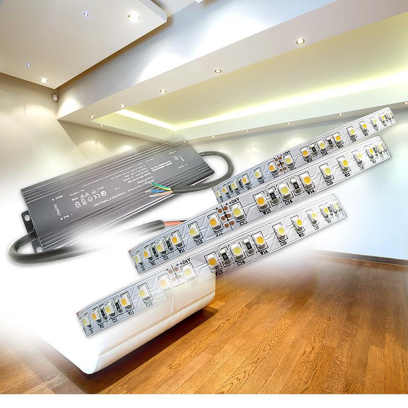Dimmbares LED Netzteil für Lichtdecke mit LED Streifen 230v