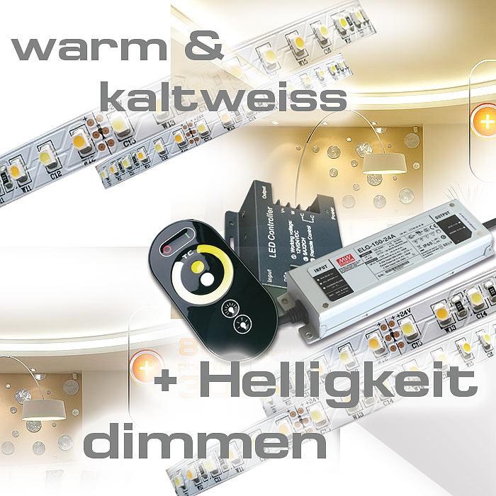 Led Streifen Set 20m dualweiss CCT für indirekte Beleuchtung komplett
