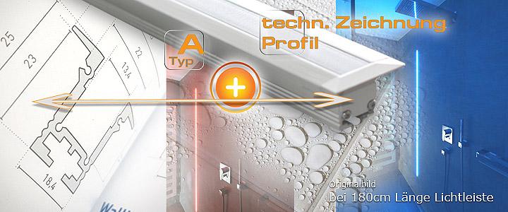 LED Profil wasserdicht vergossen Typ T-Profil