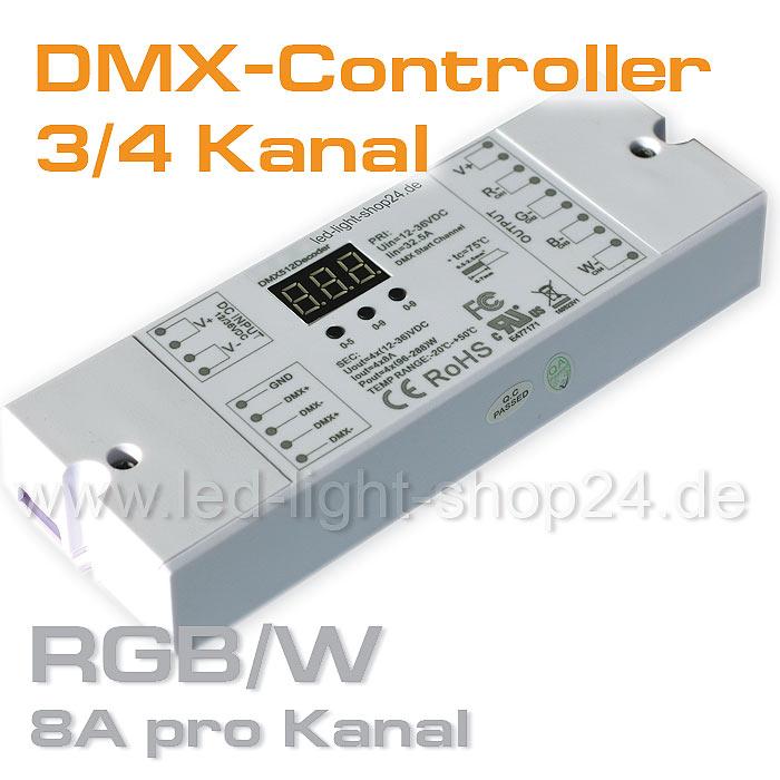 DMX Steuerung LED Streifen 8A