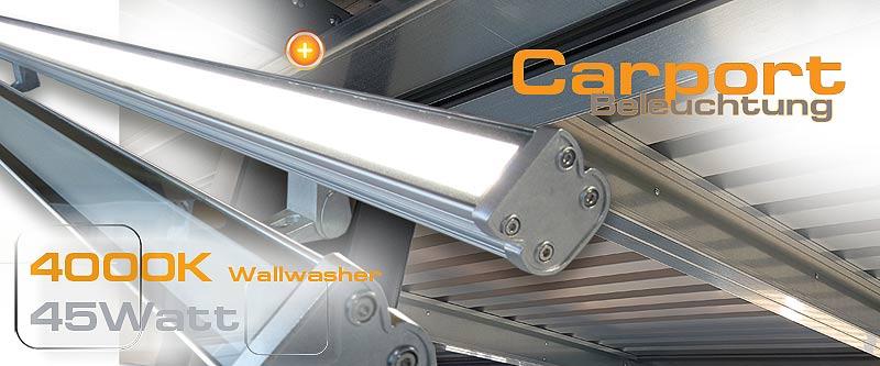 Led Wallwasher direkte Beleuchtung für Garagen und Carports