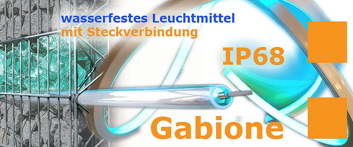 Montagehoehe von Gabionenbeleuchtung im Drahtgitterkorb